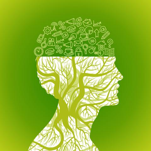 עץ עם מחשבה על טיפול במחשבות טורדניות